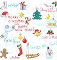 Symbols of New Year and Christmas vector image vector image