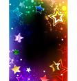 Rainbow Frame with Stars vector image