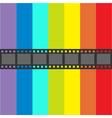 Film strip frame Straight shape ribbon Design vector image
