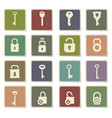 lock and key icon set vector image