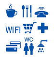 blue set of road icons vector image