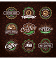 Coffee Shop Emblems 1 vector image vector image