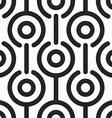 monochrome retro circle seamless pattern vector image
