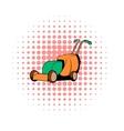 Lawn mower comics icon vector image