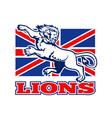 british lions flag vector image