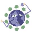 Green world vector image