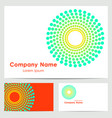 logo design business card template vector image