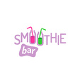 Smoothie text logo vector image
