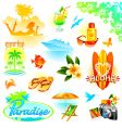 tropical resort travel   vector image