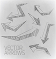 design arrow of drawing vector image
