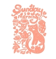 Sunday morning doodles vector image vector image