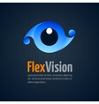 Eye shape icon Simple logo vector image