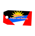 Antigua and Barbuda flag on price tag vector image