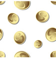 falling gold coins vector image