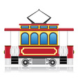 old retro tram vector image