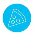 Pizza slice line icon vector image