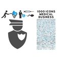 Policeman Icon with 1000 Medical Business vector image