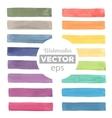 Watercolor rainbow stripes vector image