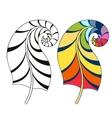 Zentangle stylized tribal rainbow color and vector image