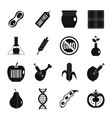 gmo icons set food simple style vector image