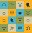 set of 16 eco-friendly icons includes save world vector image