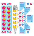 infographics template idea with pencil vector image