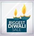 biggest diwali sale promotional banner template vector image