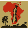 Africa is fighting for freedom vector image