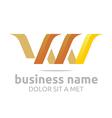 Logo Letter V Combination W Lettemark Design vector image