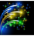 Glowing multicolor salute vector image vector image
