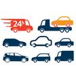 Cars profiles vector image