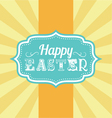 Easter carnival badge vector image