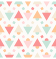 Geometric abstract pastel seamless pattern vector image