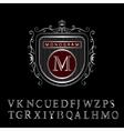 Monogram design elements English letters vector image