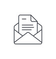 office mail open envelope email thin line icon vector image