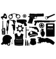 Police equipment set vector image