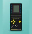 retro tetris electronic game vintage style pocket vector image