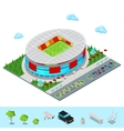 Isometric Football Soccer Stadium Building vector image vector image