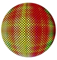 Yellow-orange mosaic ball vector image vector image