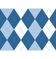 Blue argyle seamless pattern vector image
