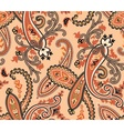 Seamless paisley background Beige colors vector image