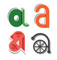 abstract small letter a vector image