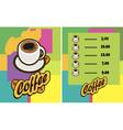coffee cup Menu vector image