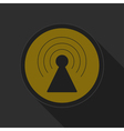 dark gray and yellow icon - transmitter vector image