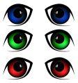 eyes illustration vector image