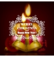 Festive Christmas blurred background vector image