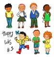 Happy Kids - part 3 Hand drawn clip-art vector image