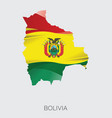 map of bolivia vector image