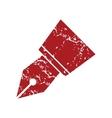 Red grunge pen logo vector image