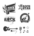 Rock music shop recording studio karaoke club vector image